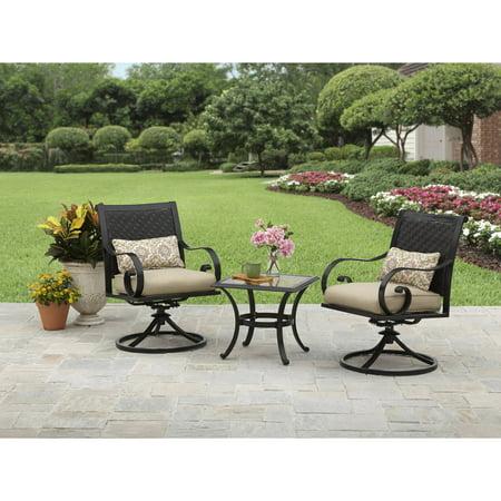 Better Homes And Gardens Englewood Heights Ii Aluminum 3 Piece Outdoor Bistro Set Seats 2
