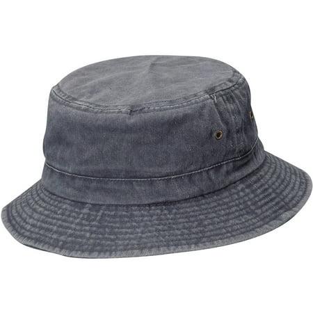 DORFMAN PACIFIC Men s Pigment Dyed Twill Bucket Hat - Walmart.com 9a154f02495b
