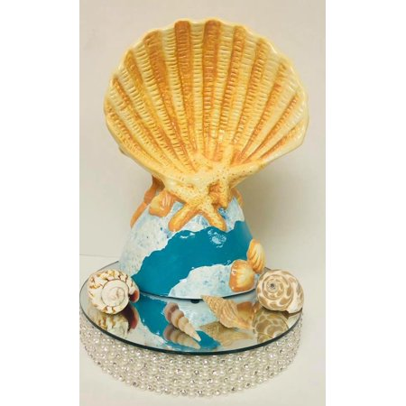 Seashell Nautical Sailor Baby Shower Boy Cake Table Centerpiece Decoration