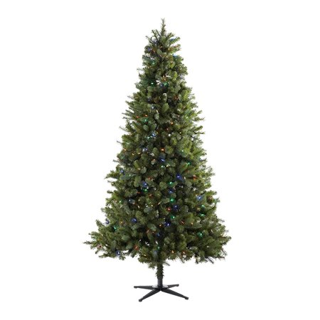 Holiday Time 7.5ft Pre-Lit Norwich Spruce Christmas Tree with 350 Color  Changing Lights - Holiday Time 7.5ft Pre-Lit Norwich Spruce Christmas Tree With 350