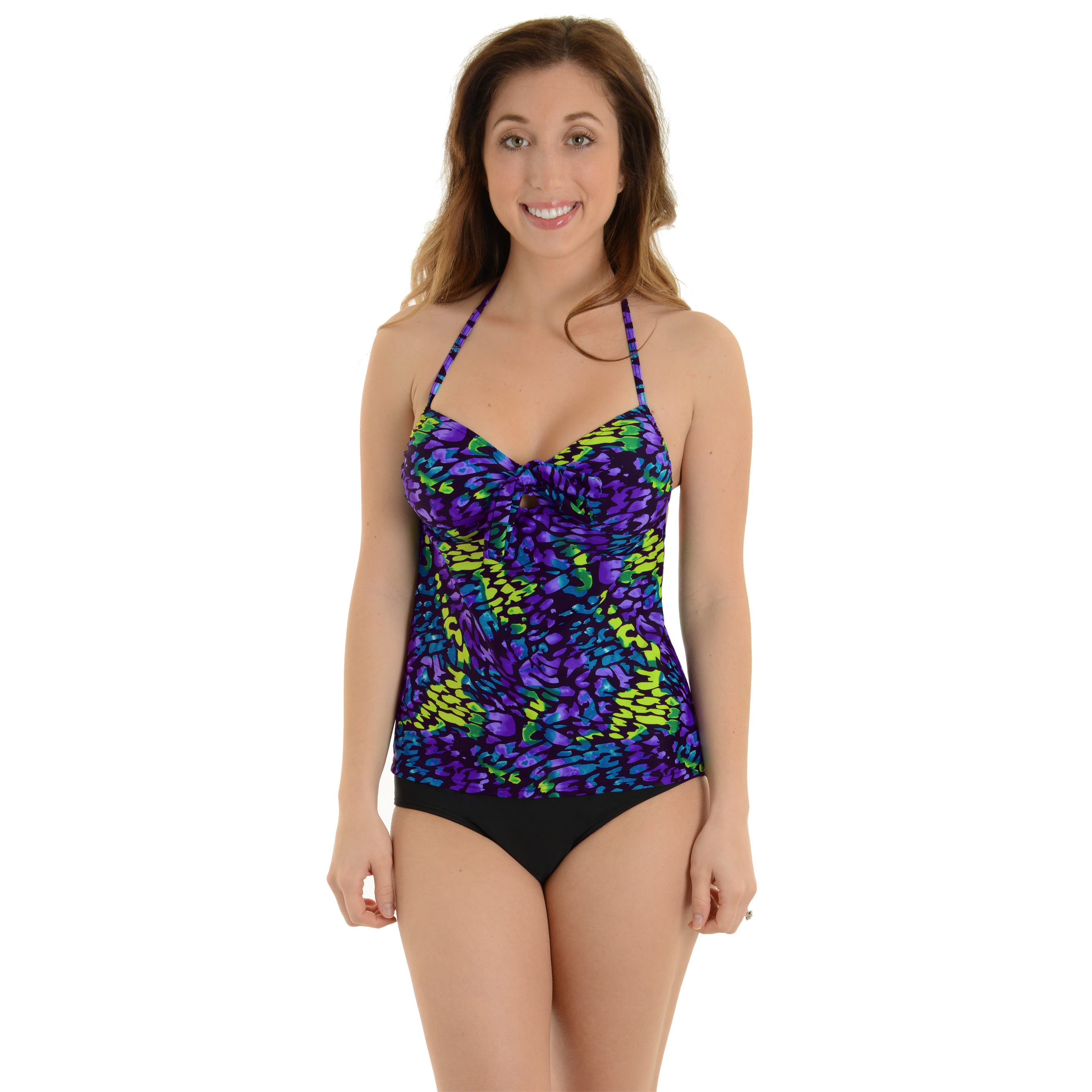 Caribbean Sand Women's Tankini Bathing Suit 2 Piece Set Colorful Animal Print