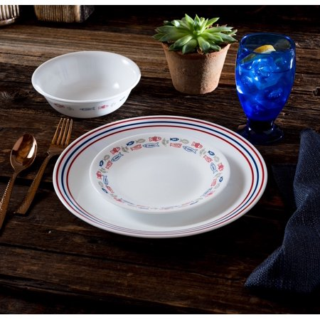 Corelle Livingware Harbor Town 16 Piece Dinnerware Set