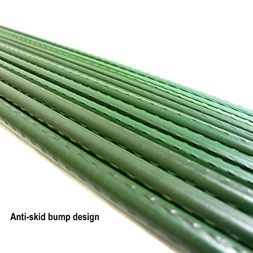 Mr.Garden Sturdy Steel Garden Stakes 4-Ft Plastic Coated Plant Stakes, 20Packs for Climbing Plants