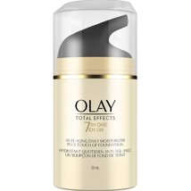 Facial Moisturizer: Olay Total Effects 7-in-One Moisturizer + Touch of Foundation