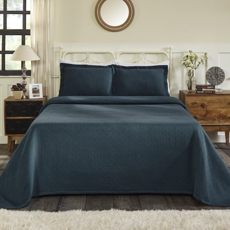 Impressions All-Season Basket Weave Pattern 100% Cotton Oversize Bedspread