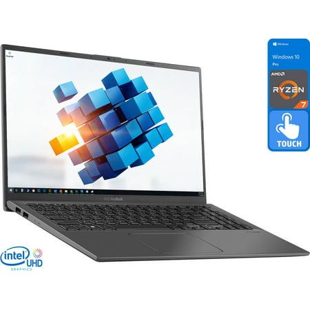 "ASUS VivoBook R Notebook, 15.6"" FHD Touch Display, AMD Ryzen 7 3700U Upto 4.0GHz, 20GB RAM, 2TB NVMe SSD, Vega 10, HDMI, Card Reader, Wi-Fi, Bluetooth, Windows 10 Pro"