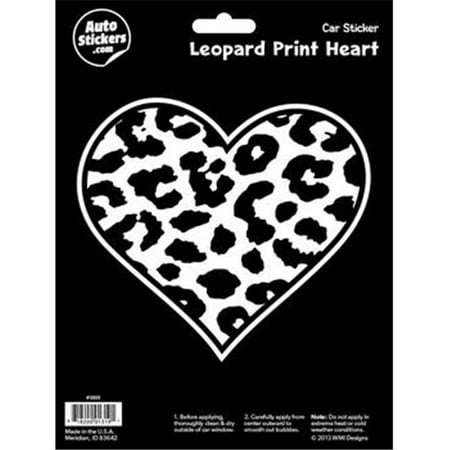 Decalcomania 10055 leopard print heart decal stickers