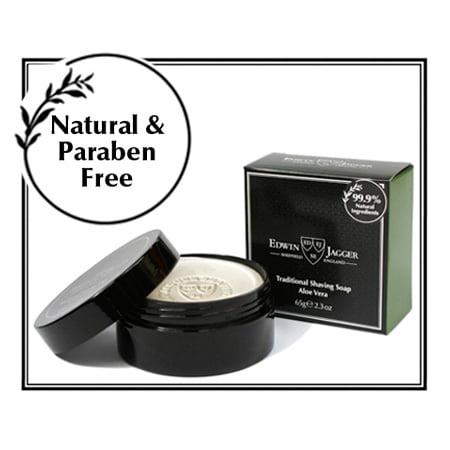 Edwin Jagger 99.9% Natural Shaving Soap in Tub, Aloe - Edwin Jagger Aloe