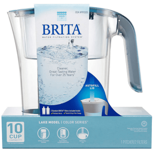Brita 10 Cup Water Pitcher Lake Model Color Series Blue with