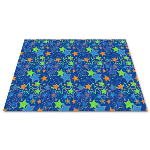 Kid Carpet Blue Seating Stars Area Rug