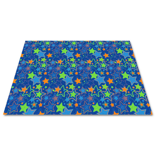 Kid Carpet Blue Seating Stars Area Rug