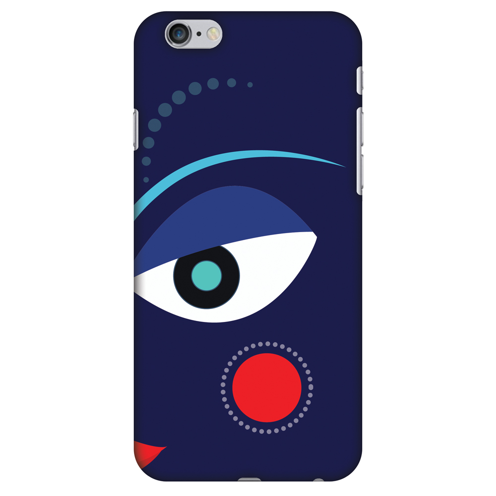 iPhone 6 Plus Case - Divine Goddess - Blue, Hard Plastic Back Cover. Slim Profile Cute Printed Designer Snap on Case with Screen Cleaning Kit