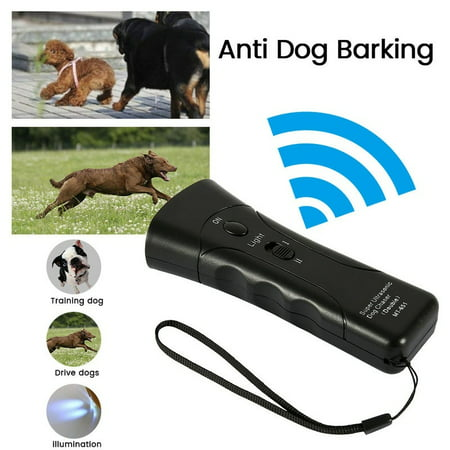 Ultrasonic Anti Dog Barking Trainer LED Light Gentle Chaser Petgentle Sonic Gentle Spray Anti Bark Collar