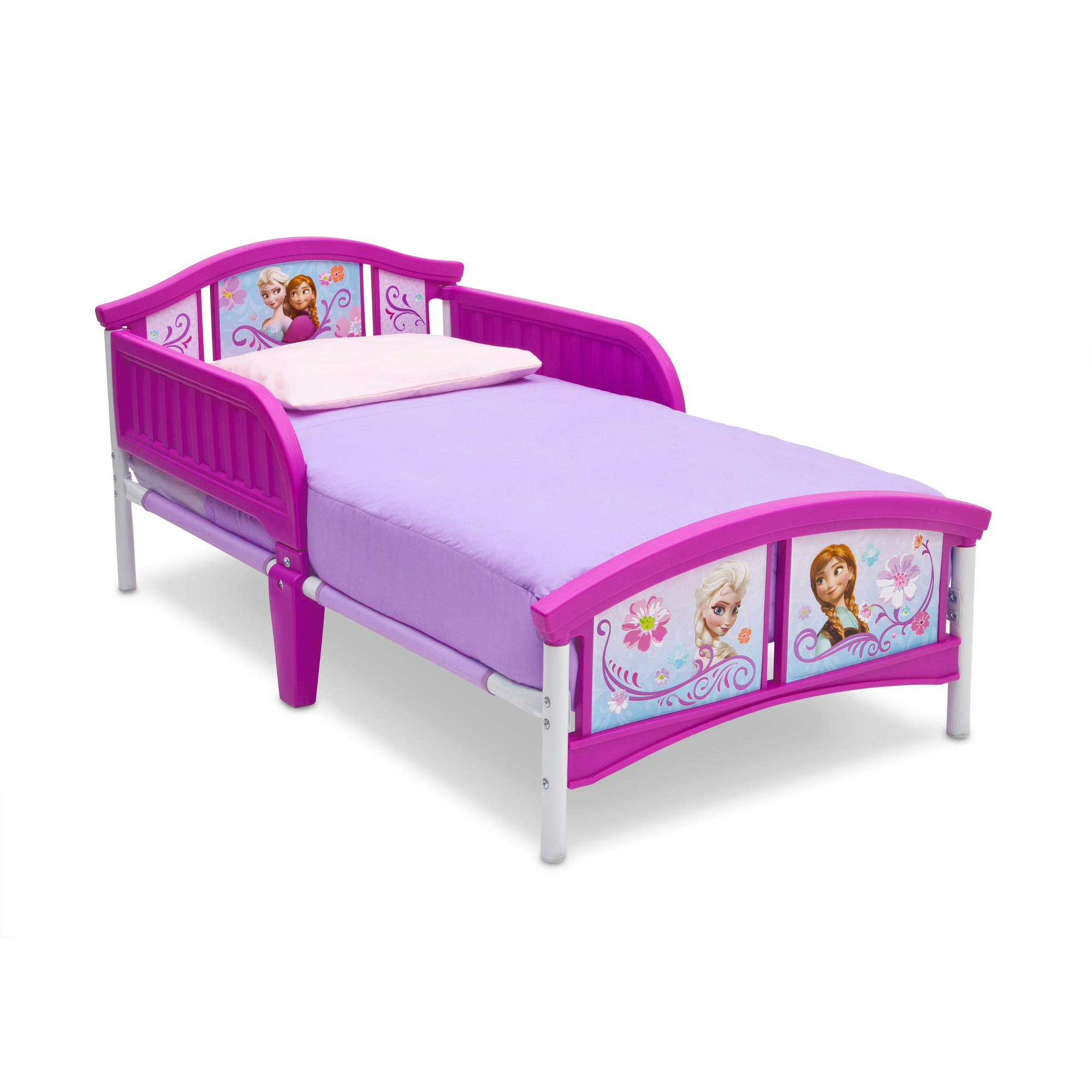 Girl toddler bed furniture - Disney Minnie Mouse Bow Tique Canopy Toddler Bed Lavender Walmart Com