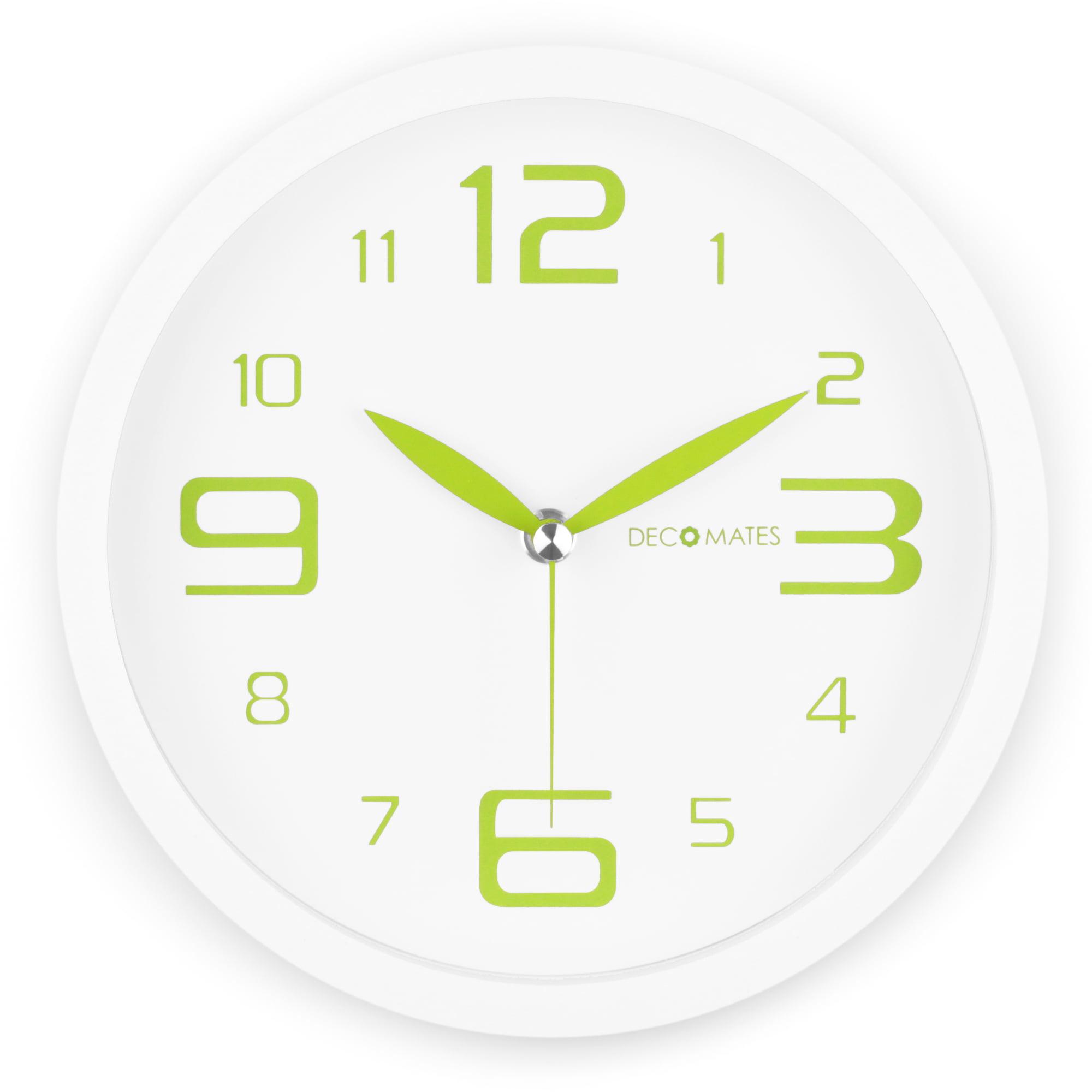 DecoMates Non-Ticking Silent Wall Clock