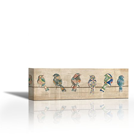 Birds On A Wire Contemporary Fine Art Giclee On Canvas Gallery