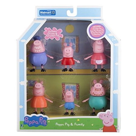 Peppa Pig and Family Figure Grandpa Granny Exclusive Set of 6 - Peppa Pig Family