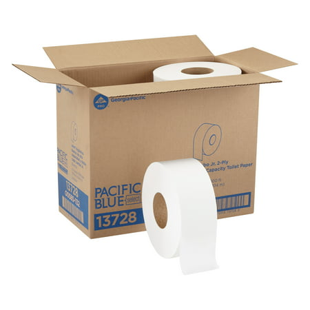 Pacific Blue Select™ (13728) 2-Ply Jumbo Roll Toilet Paper by GP PRO (Georgia-Pacific), White, 1000 Feet Per Roll, 8 Rolls Per Case