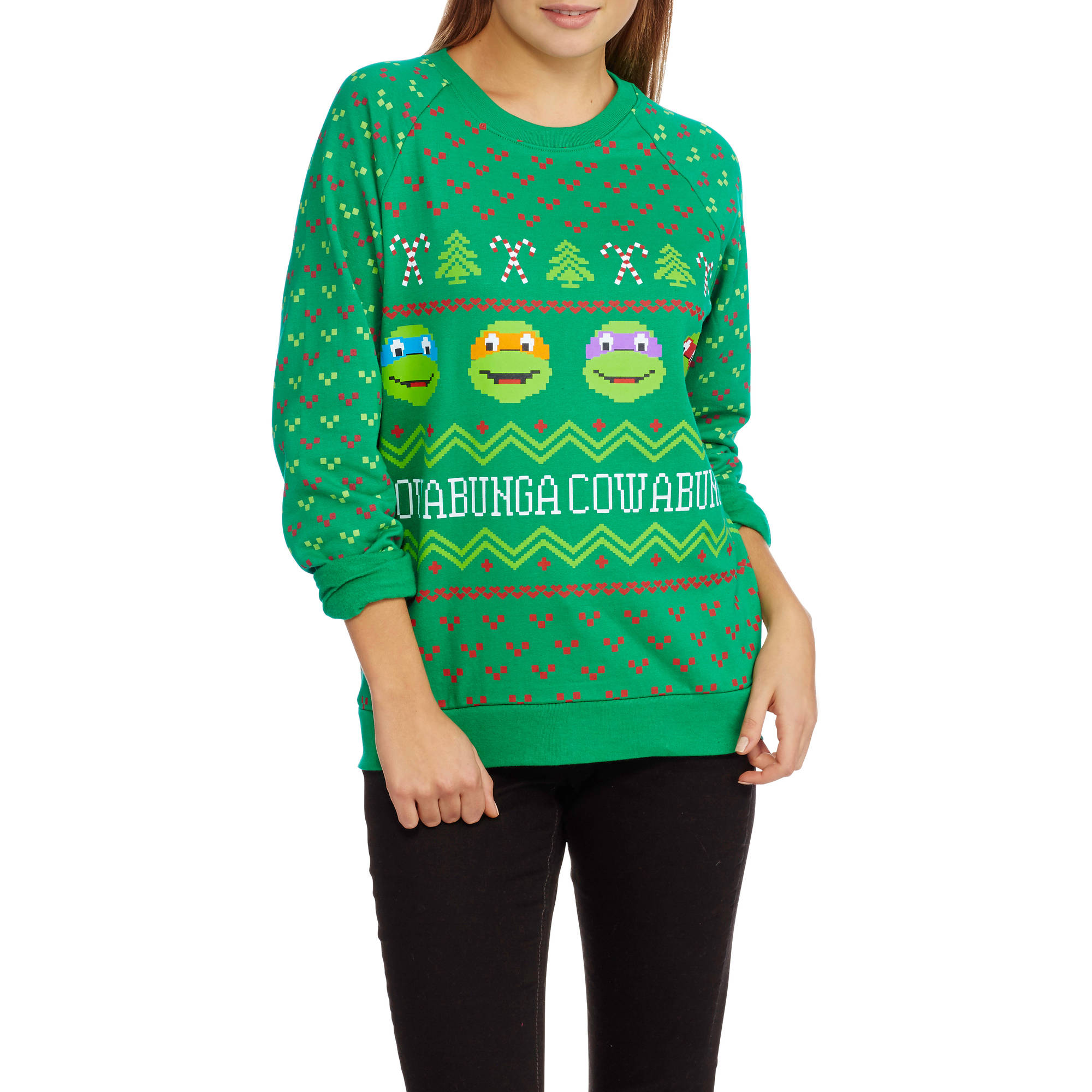 Teenage Mutant Ninja Turtles Juniors' Ugly Christmas Pullover ...