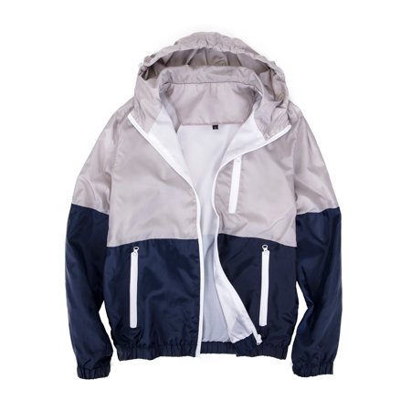 SAYFUT Big and Tall Men's Hooded Jackets Zip Up Jacket Sport Sweatshirt Hoodie Windbreaker Jacket Coat Outwear L-3XL