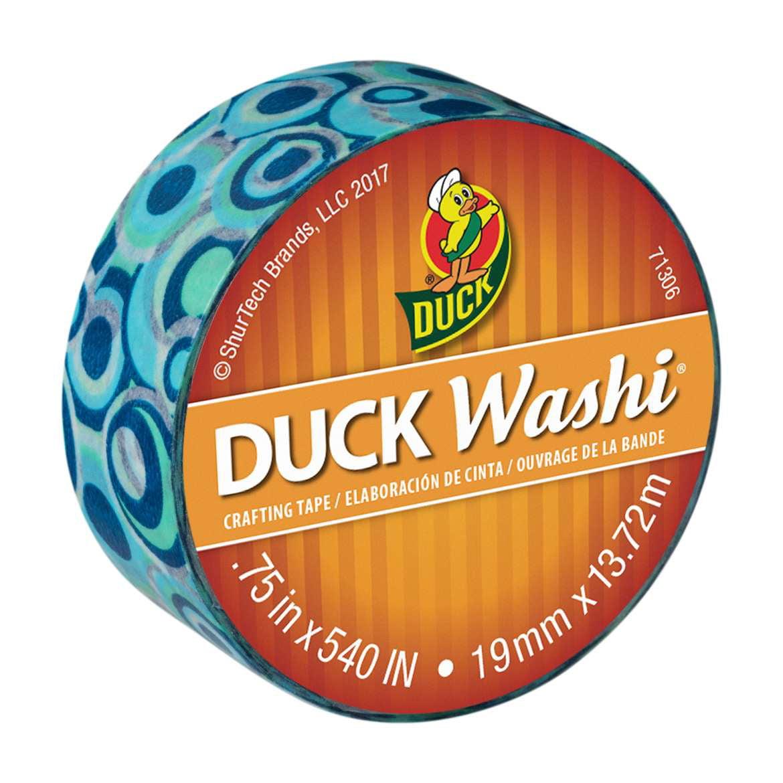 "Duck Brand Washi Crafting Tape, 0.75"" x 15 yards, Blue Mod"