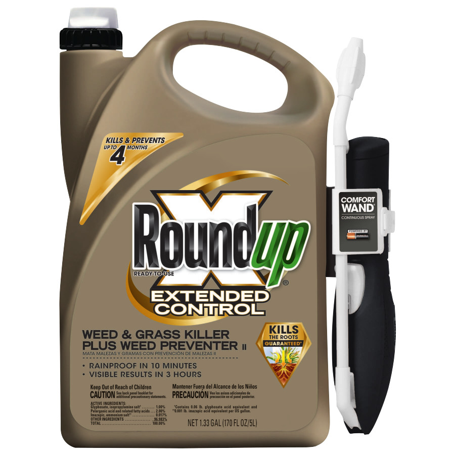 Roundup Extended Control Weed & Grass Killer Plus Weed Preventer II Comfort Wand Ready-To-Use 1.33 gal