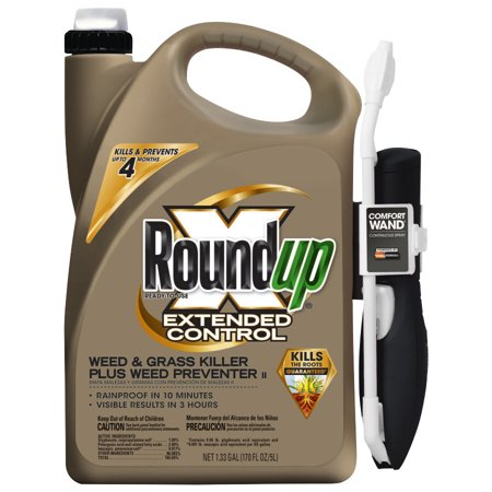 Roundup Extended Control Weed   Grass Killer Plus Weed Preventer Ii Comfort Wand Ready To Use 1 33 Gal
