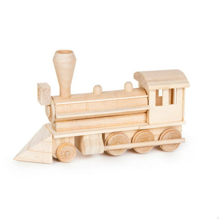 Wood Civil War Steam Engine Model Kit: 7.37 x 4.37 inches