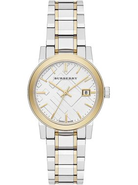 3d19864de687 Product Image Burberry Check Dial Two-Tone Ladies Watch BU9115