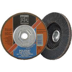 Pferd 44680 Zirconia Flap Disc   10 Pack  4  25 X 0  75 X 0  625 Inch  11   60 Grit   Model No   60488