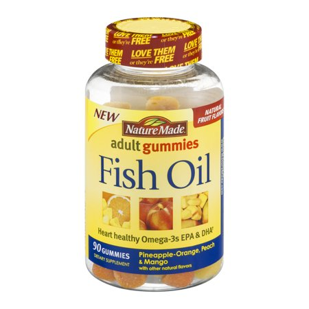 Nature made fish oil adult gummies 90 count for Nature made fish oil gummies