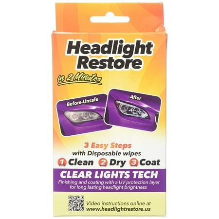 CLT Headlight Restoration Kit, Headlight Lens Cleaning (Best Headlight Restoration Kit On The Market)