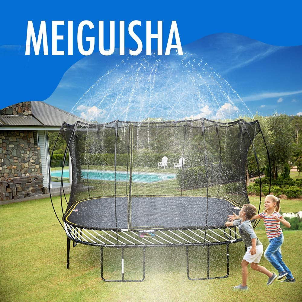 Joyx 50 Ft Trampoline Backyard Sprinklers Spray Water Park Fun Summer Cool Things Outdoor Toys Water Game Trampoline Accessories Ladder Made To Attach On Trampoline Safety Net Enclosure Walmart Com Walmart Com