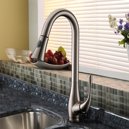 Cadell Pull Down Single Handle Kitchen Faucet