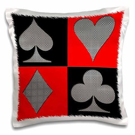 3dRose Poker. Four of a kind. Aces. Cards design. Best seller. - Pillow Case, 16 by