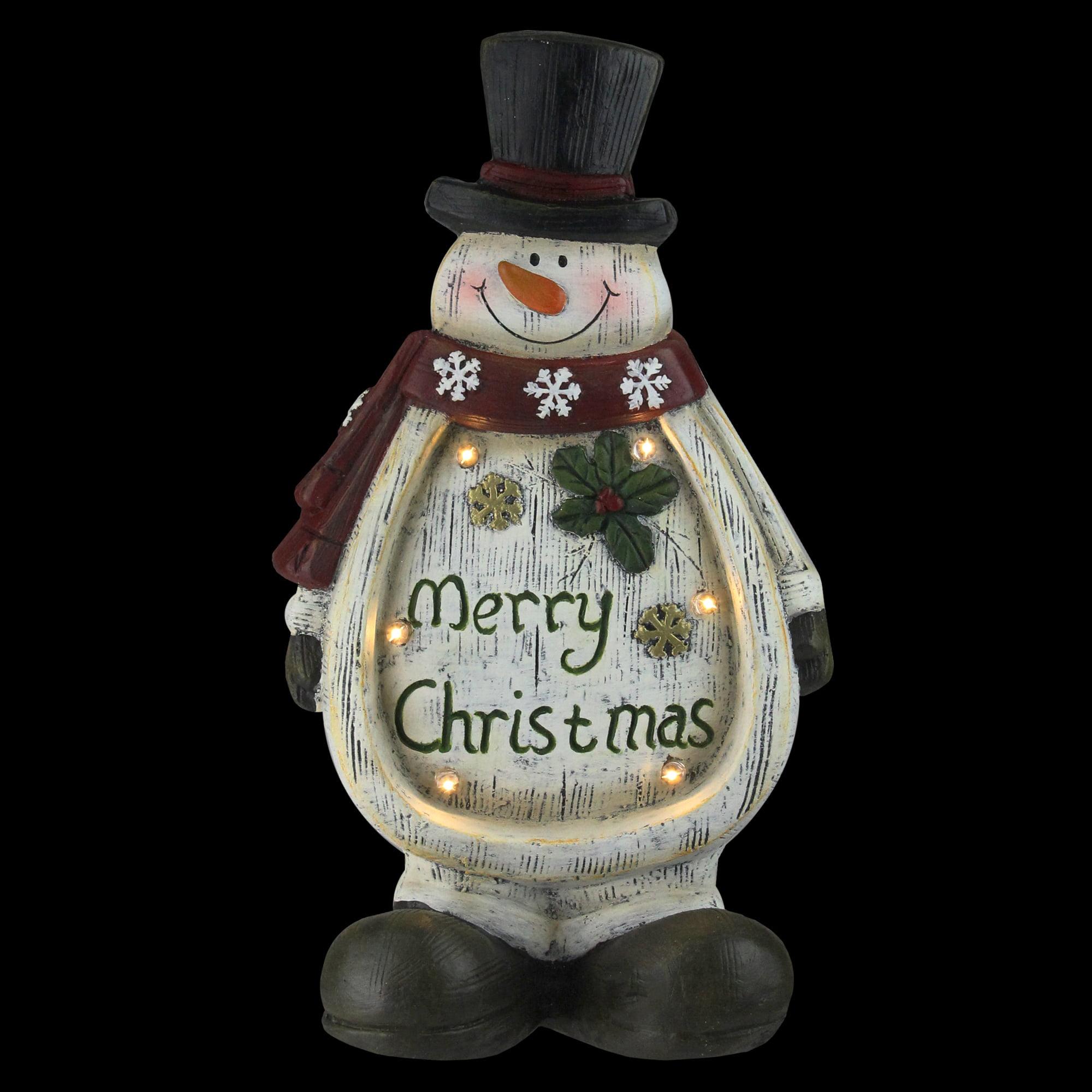 14 5 Led Lighted Weathered Snowman Table Top Christmas Decoration Walmart Com Walmart Com