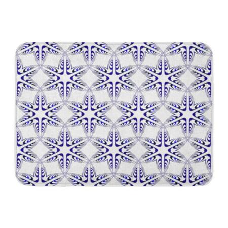 NUDECOR Pink Floral Pattern Abstract Blue Gradient Interior Presentation Purple Doormat Floor Rug Bath Mat 30x18 inch - image 1 de 1