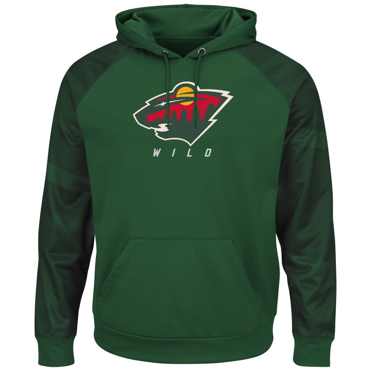 "Minnesota Wild Majestic NHL ""Penalty Shot"" Men's Hooded Therma Base Sweatshirt by MAJESTIC LSG"