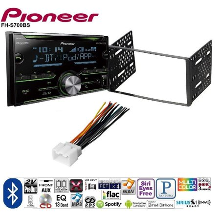 Pioneer Double DIN CD Receiver Built-in Bluetooth, and SiriusXM-Ready FORD 1998-2008 RANGER CAR RADIO STEREO CD PLAYER DASH INSTALL MOUNTING KIT HARNESS
