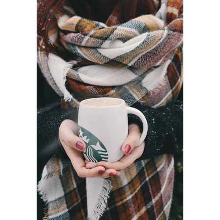 Canvas Print Hands Starbucks Coffee Hot Red Manicure Cold Stretched Canvas 10 x 14
