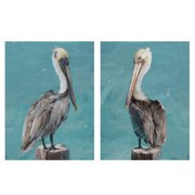 "Masterpiece Art Gallery Pelican Perch I & II By Studio Arts Canvas Art Print Set Of 2 18"" x 24"""