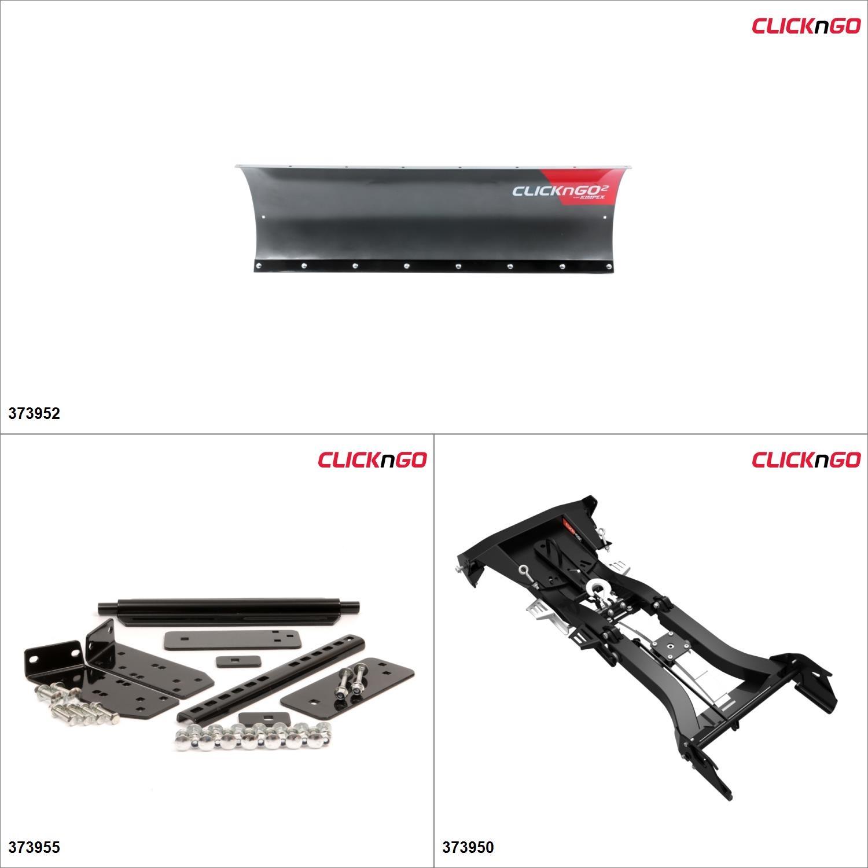 "ClickNGo GEN 2 ATV Plow kit - 54"", Can-Am Outlander L 500 2015 Black / Titanium Gray  #KK00000030_18"