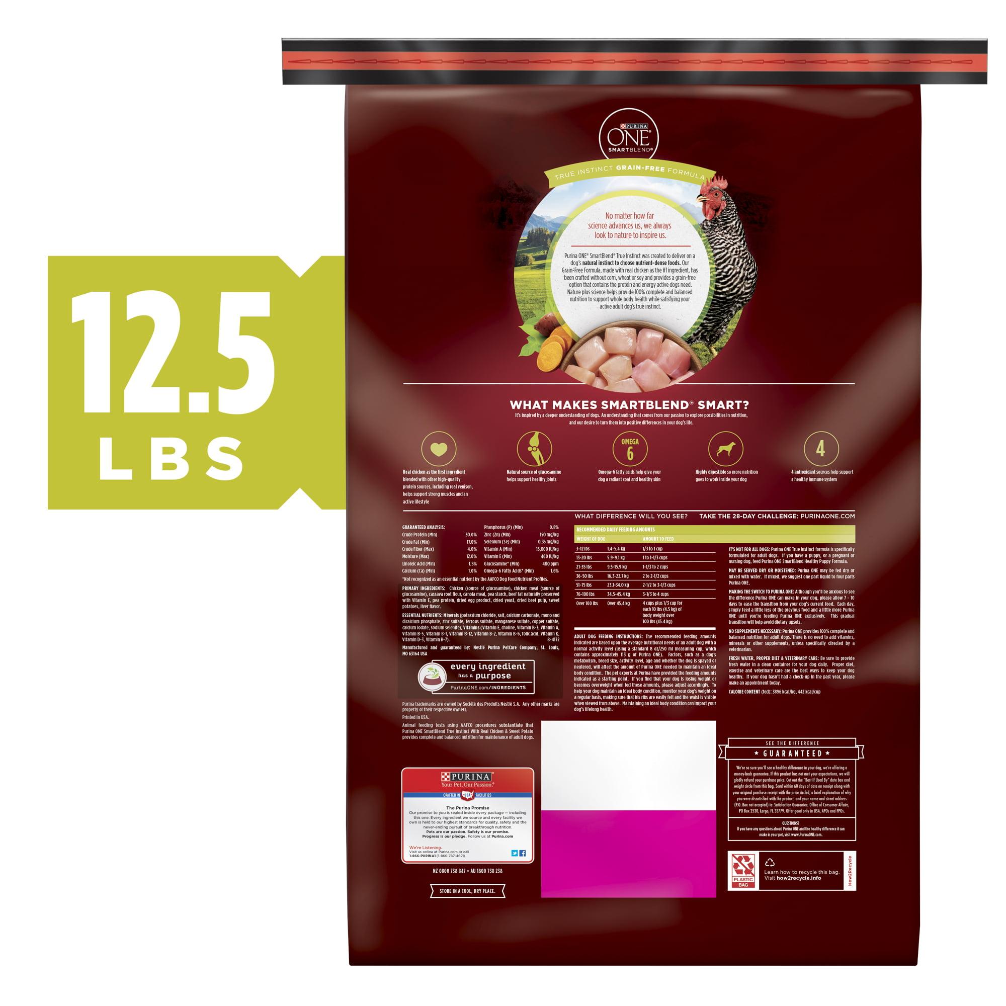 Purina ONE SmartBlend True Instinct Natural Grain Free Formula with