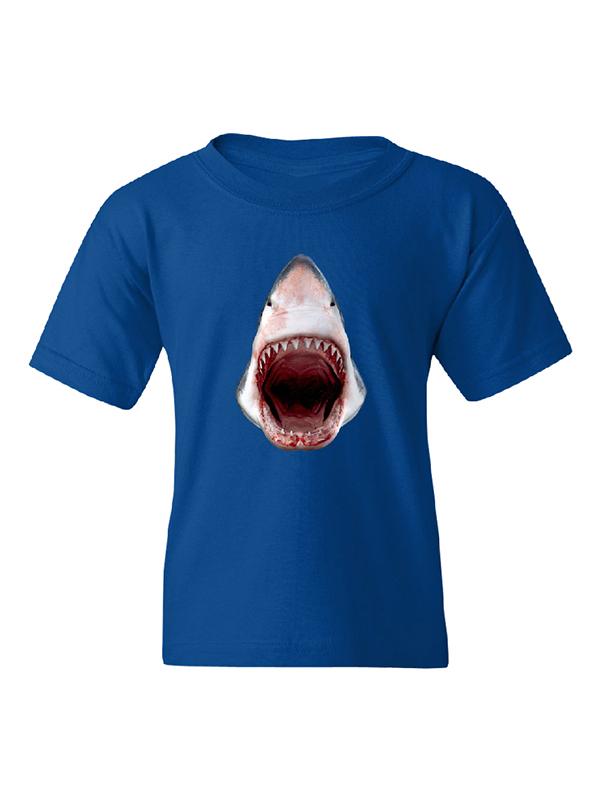 Shark Showing Razor Teeth Kids Boy Girl T-Shirt