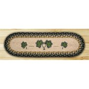 Earth Rugs 49-ST116S Shamrock Oval Stair Tread