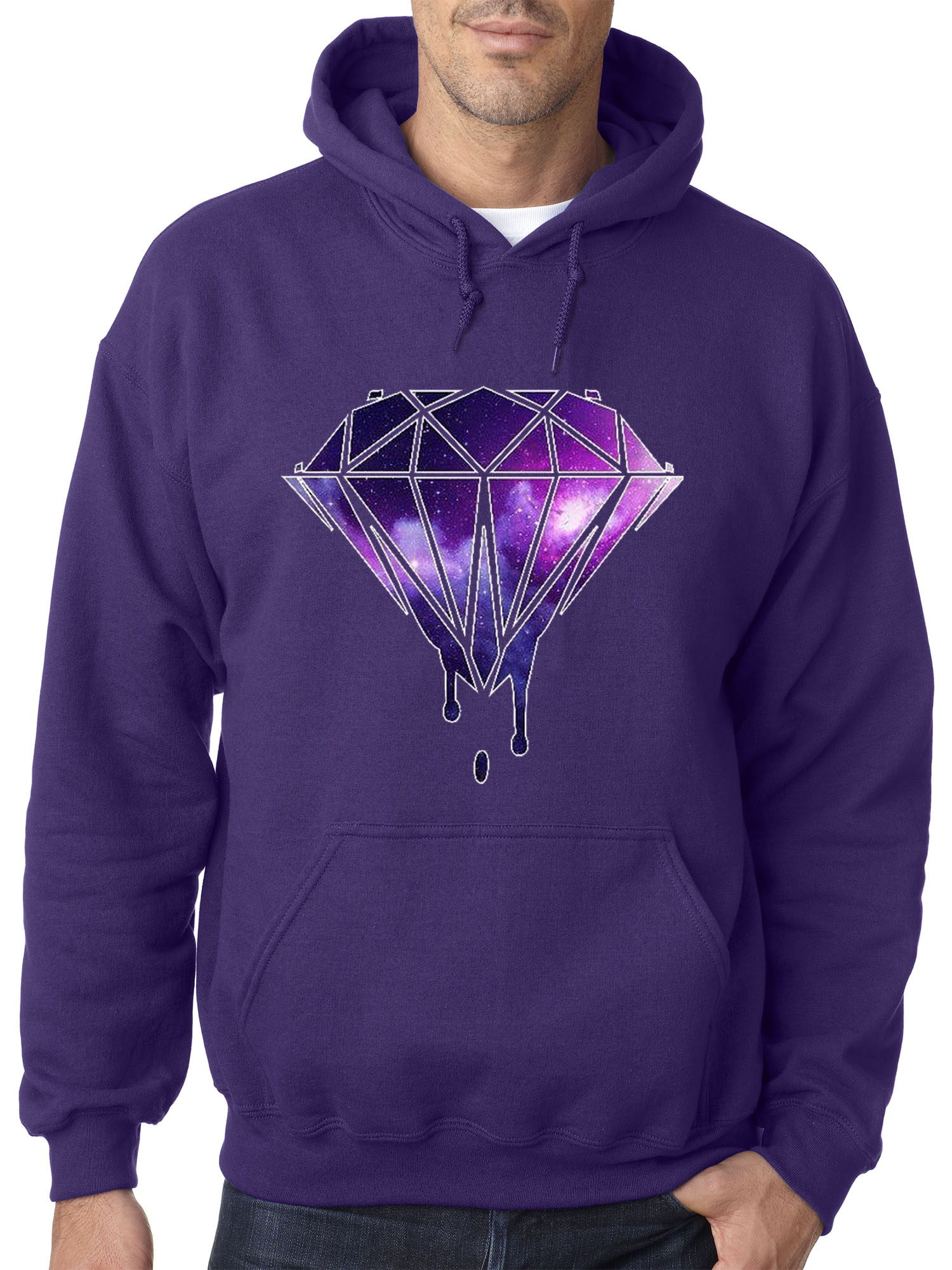 New Way 089 - Hoodie Galaxy Bleeding Dripping Diamond Sweatshirt