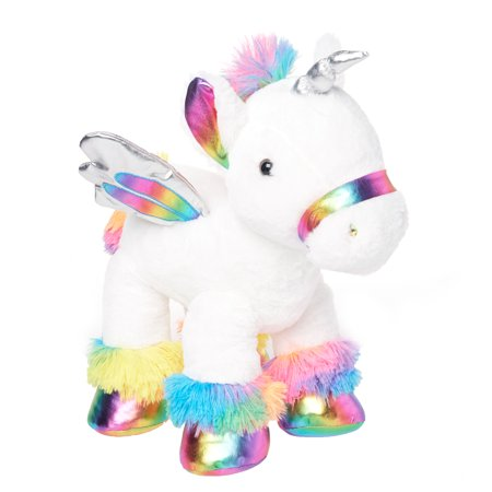 Way To Celebrate Floppy Plush, Unicorn, Rainbow