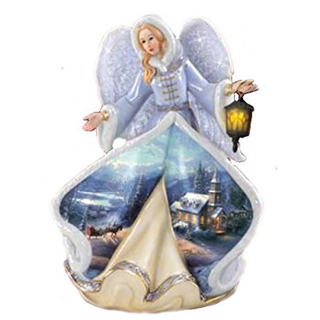 Thomas Kinkade Angel of Glory 5th in the Series Retired Made of Resin 8 Inches Tall
