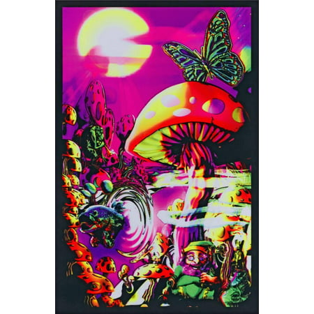 Magic Valley Blacklight Poster - 23x35