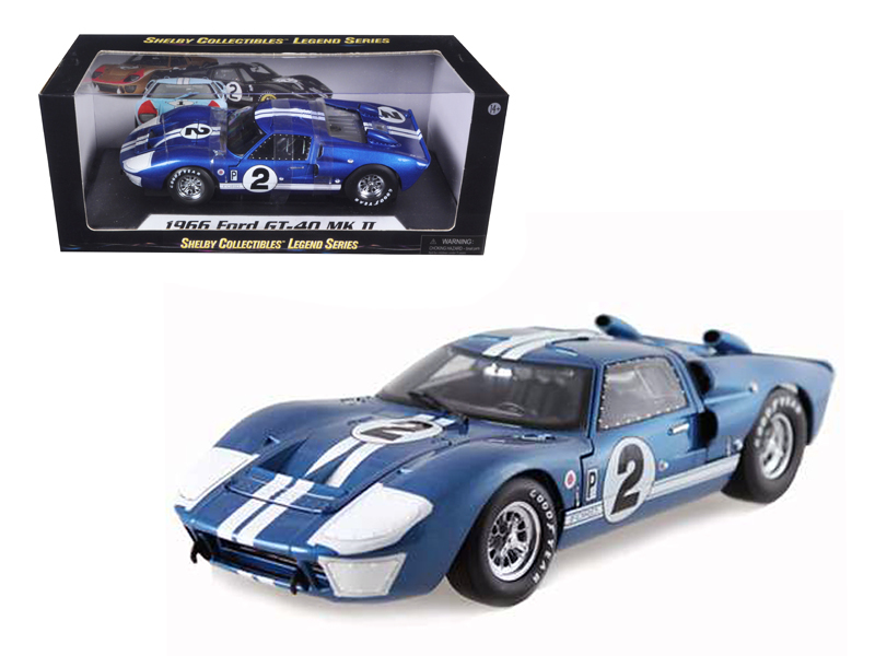 1966 Ford GT40 GT 40 Mark II #2 Blue 12 Hours of Sebring 1 18 Diecast Car Model by Shelby... by Shelby Collectibles